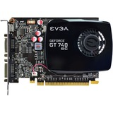 EVGA GeForce GT 740 Graphic Card - 1.06 GHz Core - 2 GB DDR3 SDRAM - PCI Express 3.0 x16 - Single Slot Space Required