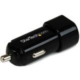 StarTech.com Dual Port USB Car Charger - High Power (17 Watt / 3.4 Amp)