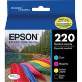 Epson DURABrite Ultra Ink 220 Original Ink Cartridge - Black, Cyan, Magenta, Yellow