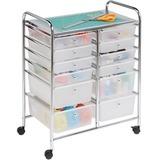 Honey-can-do CRT-01683 12-Drawer Studio Organizer Cart, Chrome