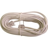 Calrad Electronics 25 Modular Line Cord 4 Wire Plugs Each End White