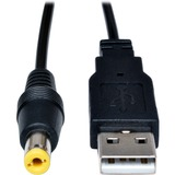 Tripp Lite 3ft USB to Type M Barrel 5V DC Power Cable Cord