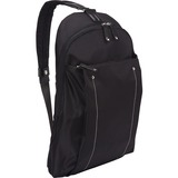 "WIB Miami City Slim Backpack for up-to 14.1"" Notebook , Tablet, eReader - Black - Twill Polyester"