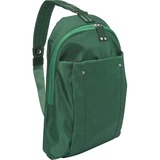 "WIB Miami City Slim Backpack for up-to 14.1"" Notebook , Tablet, eReader - Green - Twill Polyester"
