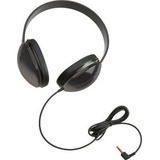 Califone Listening First Childrens Lightweight Stereo Headphones Black