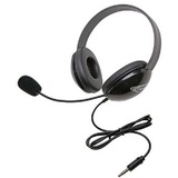 Califone Stereo Black Headphone With To Go 3.5Mm Plug