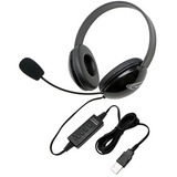 Califone Listening First Stereo Headset Black Over-The-Head Noise Reduction, Microphone W/ Usb Plug