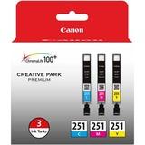 Canon CLI-251 Ink Cartridge - Cyan, Magenta, Yellow