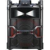LG OM5541 Mini Hi-Fi System - 400 W RMS - Black, Red