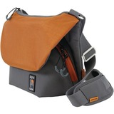"Ape Case Tech Carrying Case (Messenger) for 11"" Camera, Lens, Camera Flash, iPad, Tablet, Filter, Memory Card, Accessories, iPad mini - Orange, Gray"