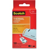 Scotch Front and Back Thermal Pouches - ID Badge Size without Clips
