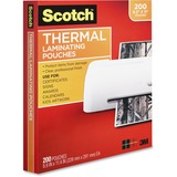 Scotch Front and Back Thermal Laminating Pouches - Letter Size