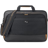 "Solo Urban Carrying Case (Briefcase) for 17.3"" Notebook, Ultrabook, iPad, Tablet, Digital Text Reader, Charger, Accessories - Black, Gold"