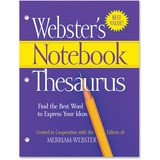 Merriam-Webster 3-Hole Punch Paperback Thesaurus Dictionary Printed Book - English