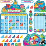 Trend Sea Buddies Calendar Bulletin Board Set