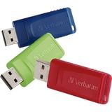 Verbatim 8GB Store 'n' Go USB Flash Drive - 3pk - Red, Green, Blue
