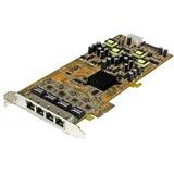 StarTech.com 4 Port Gigabit Power over Ethernet PCIe Network Card