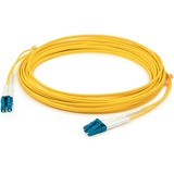 AddOn 15m LC (Male) to LC (Male) Yellow OS2 Duplex Fiber OFNR (Riser-Rated) Patch Cable
