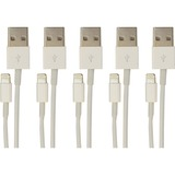 5PK LIGHTNING TO USB 3.0/2.0 CHARGE & SYNC CABLE