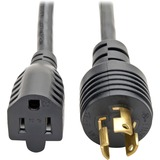 Tripp Lite 1ft Power Cord Adapter Cable 5-15P to 5-15R Heavy Duty 15A 14AWG 1'