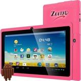 """Zeepad 7DRK-Q Tablet - 7"""" - 512 MB DDR3 SDRAM - Allwinner Cortex A7 A33 Quad-core (4 Core) 1.80 GHz - 4 GB - Android 4.4 KitKat - 800 x 480 - Pink"""