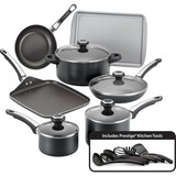 Farberware 17-Piece Cookware Set, Black