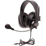 Califone Deluxe Multimedia Stereo Headsets w/Mic and To Go Plug Via Ergoguys