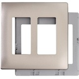 Pass & Seymour Two-Gang Screwless Decorator Wall Plate, Nickel