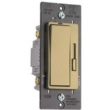 Pass & Seymour Harmony Incandescent Single Pole/3-Way Dimmer Switch, Antique Brass