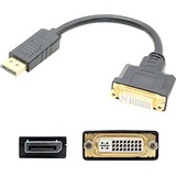 HP FH973AT Compatible DisplayPort 1.2 Male to DVI-I (29 pin) Female Black Adapter Which Requires DP++ For Resolution Up to 2560x1600 (WQXGA)