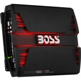 BOSS AUDIO PF1800 Phantom 1800-Watt Full Range, Class A/B 2 to 8 Ohm Stable 4 Channel Amplifier with Remote Subwoofer Level Control