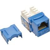 TRIPP LITE Cat6 Cat5e 110 Style Punch Down Keystone Jack, Blue, 25-Pack (N238-025-BL)