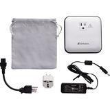 Verbatim AC/USB Portable Power Outlet, 12,000mAh - Silver