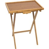 Lipper Bamboo Lipped Snack Tables