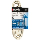 Coleman Cable 0600W - 16/2 6' Cube Tap Extension Cord White