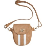 Bulldog Carrying Case (Purse) for Pistol, Money, Driving License, Credit Card, Cosmetics, Cellular Phone - Tan, White