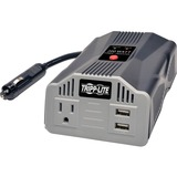 Tripp Lite Ultra-Compact Car Inverter 200W 12V DC to 120V AC 2 USB Charging Ports 1 Outlet