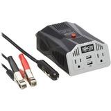 Tripp Lite Ultra-Compact Car Inverter 400W 12V DC to 120V AC 2 UBS Charging Ports 2 Outlets
