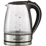 Brentwood KT-1900BK 1.7L Borosilicate Glass Tea Kettle in Black