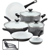 Farberware 12-Piece Cookware Set, Gray