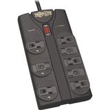 Tripp Lite Surge Protector Power Strip 8 Outlet 8 ' Cord Black 1440 J