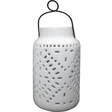 Smart Solar Tangier Large Solar Ceramic Lantern