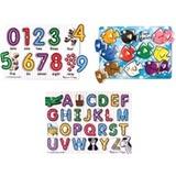 Melissa & Doug Classic Peg Puzzle Bundle (3 Puzzle Bundle)