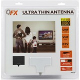 QFX HD/DTV Ultra Thin Black/White Antenna