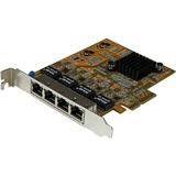 StarTech.com 4-Port PCI Express Gigabit Network Adapter Card