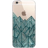 OTM Artist Prints Clear Phone Case, Jagged Rocks Teal