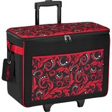 Brother Carrying Case (Rolling Tote) for Paper Craft Machine - Red
