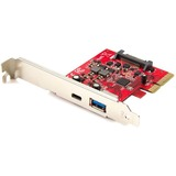 StarTech.com 2 Port USB 3.1 (10Gbps) Card - 1x USB-C 1x USB-A - PCIe - USB C Gen 2 - USB Type-C Card - PCI Express USB Type C Controller