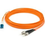 AddOn 3m LC (Male) to ST (Male) Orange OM2 Duplex Fiber OFNR (Riser-Rated) Patch Cable