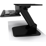 Atdec Sit to Stand Freestanding Workstation - A-STSFB- Height Adjustable Gas-strut Assistance Keyboard and Mouse Tray - Black